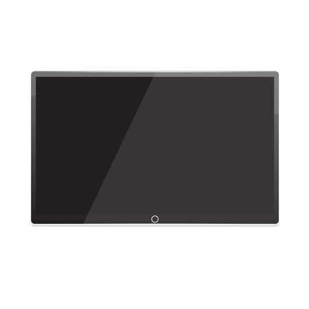 flat panel monitor: Led tv, screen TV hanging on the wall
