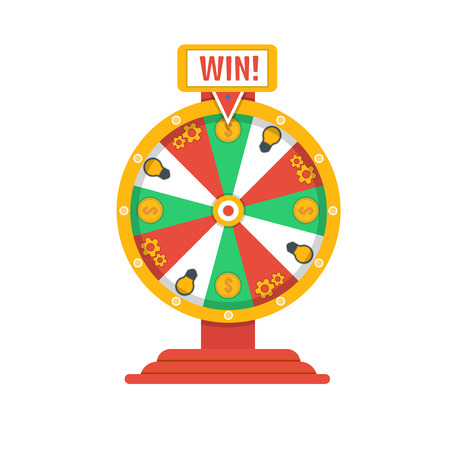 wheel of fortune: Wheel of fortune icon Illustration