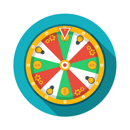 fortune: Wheel of fortune icon Illustration