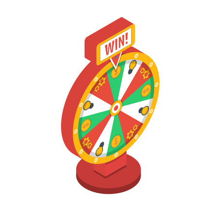 wheel of fortune: Wheel of fortune isometric icon