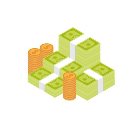 Pile of cash  イラスト・ベクター素材