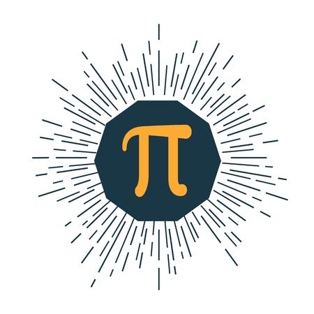 diameter: Mathematic Pi icon flat