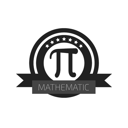 numbers background: Mathematic Pi icon flat