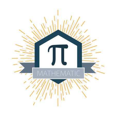 engineering and technology: Mathematic Pi icon flat