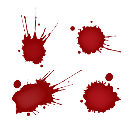 Realistic blood splatters set