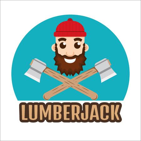 leñador: Leñador leñador o logotipo.