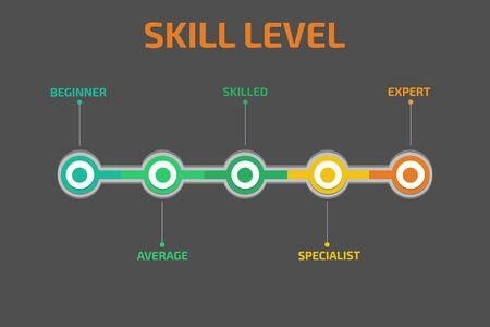 job icon: Skill levels vector