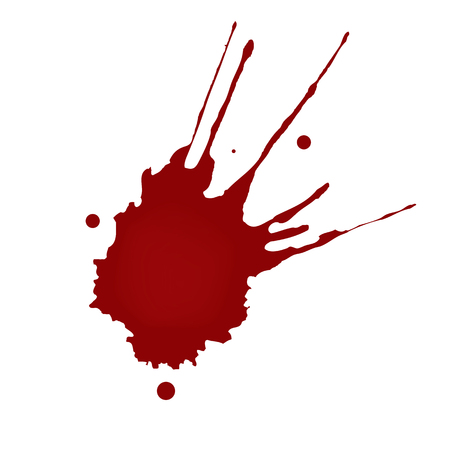 Realistic blood splatters Stock Illustratie