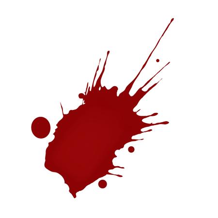 blood drops: Realistic blood splatters Illustration