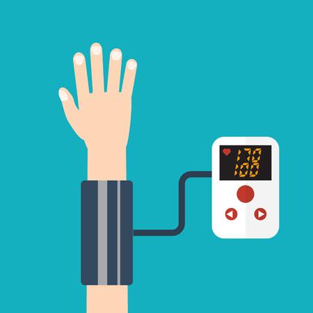 High blood pressure concept vector Illustration