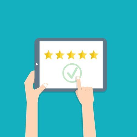 Customer review concepts Stock Illustratie