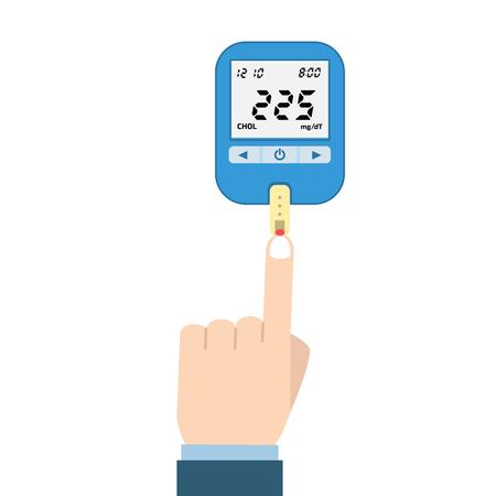 medium: Cholesterol Meter vector