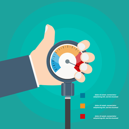 High blood pressure concept vector Ilustracja