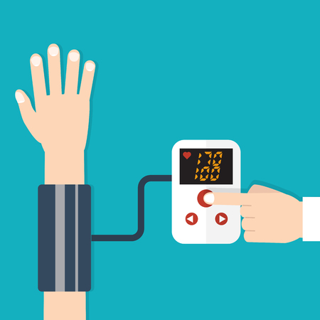 High blood pressure concept vector Иллюстрация