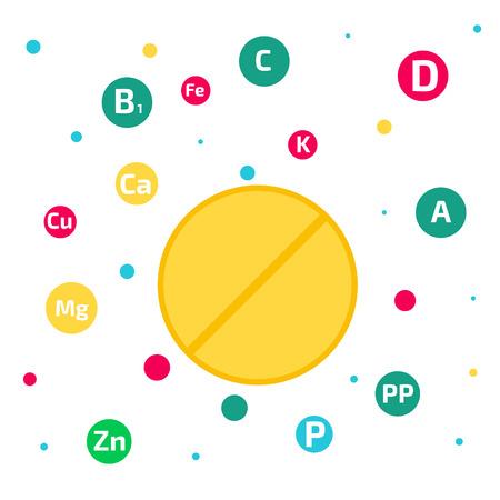 minerals: Vitamins and minerals background