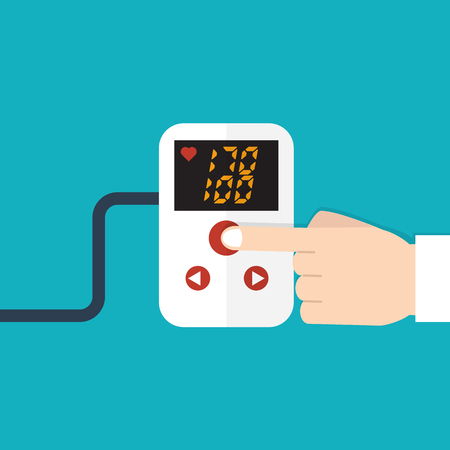 blood pressure monitor: High blood pressure concept vector Illustration