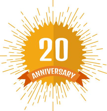 50 to 60 years: Anniversary sign 20