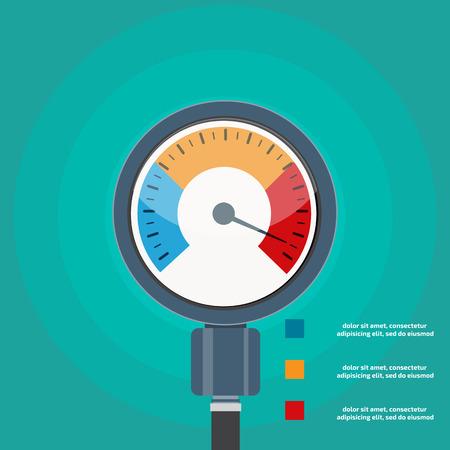 Hoge bloeddruk begrip vector Vector Illustratie