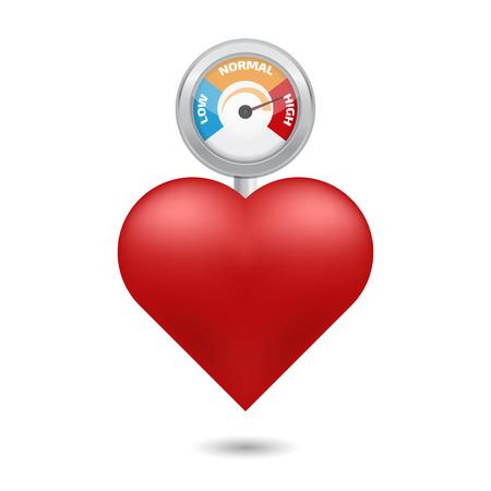 Arterial alta concepto de presión vectorial