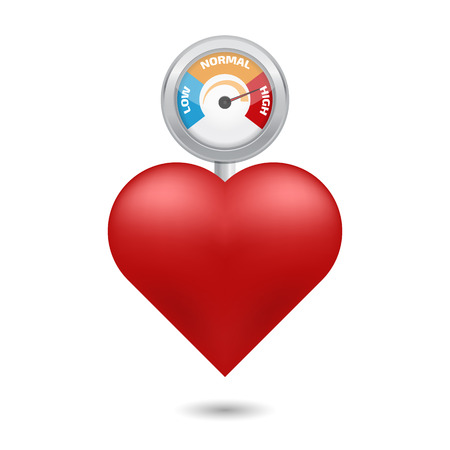 Concetto di alta pressione sanguigna vettore