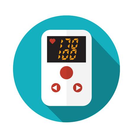 high pressure: High blood pressure concept vector Illustration
