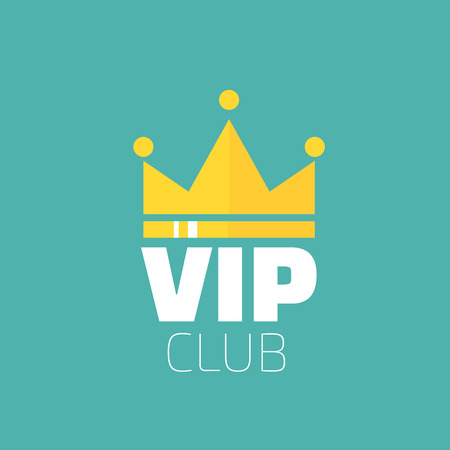 vip design: VIP club logo in flat style. VIP Club members only banner