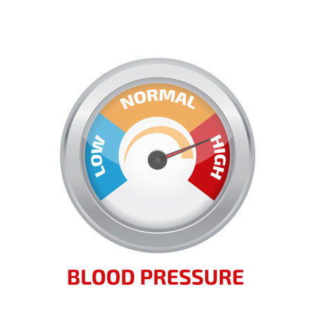 Wysokie ciśnienie krwi pojęcie wektora