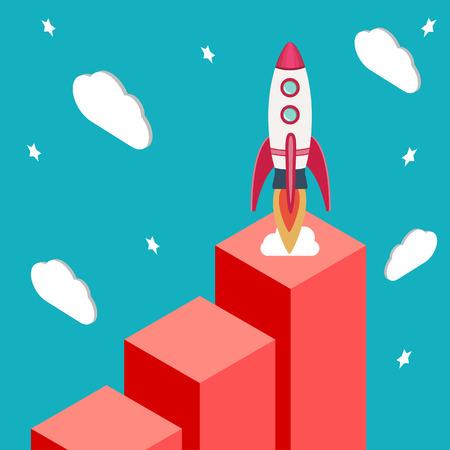 beginning: New business model. New business project start up.Achievement and beginning