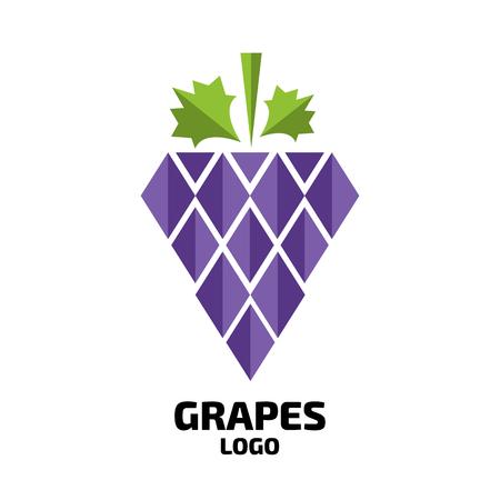 Grapes vector logo. Wine, vine logo. Grapes logo