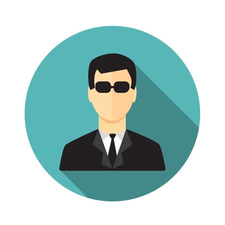 secret service: Secret service agent Illustration