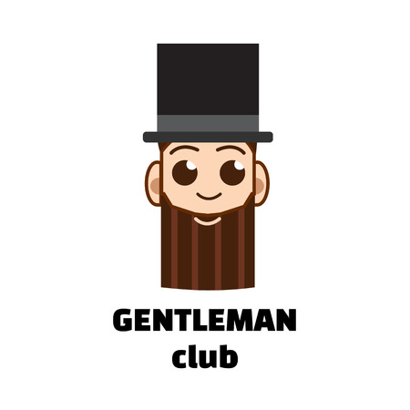 cigar smoking man: gentleman club logo