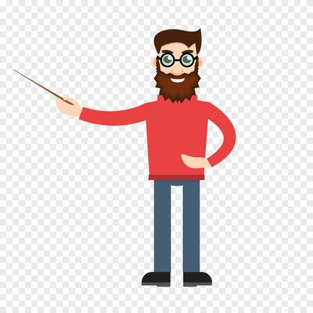 enseignant Homme sur fond transparent Vecteurs