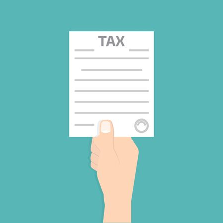tax form: Tax form in hand