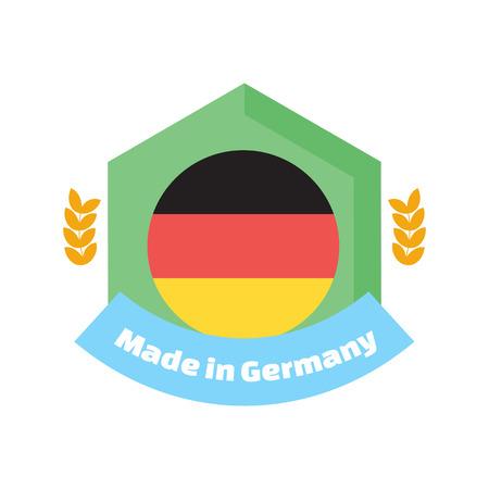 deutchland: Made in Germany label or badge. Illustration