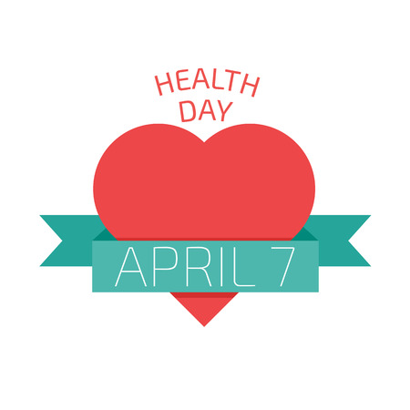 Health day poster. Flat style vector illustration