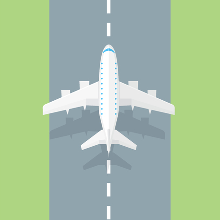 airplane: Airplane runway. Airplane trendy icon