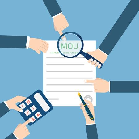 an understanding: memorandum of understanding MOU