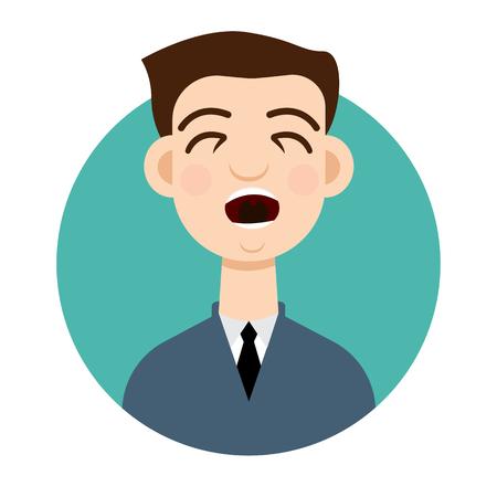 tosa: icono de la tos. hombre de la tos. Vectores