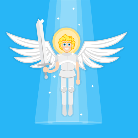 angel gabriel: Archangel with sword Illustration