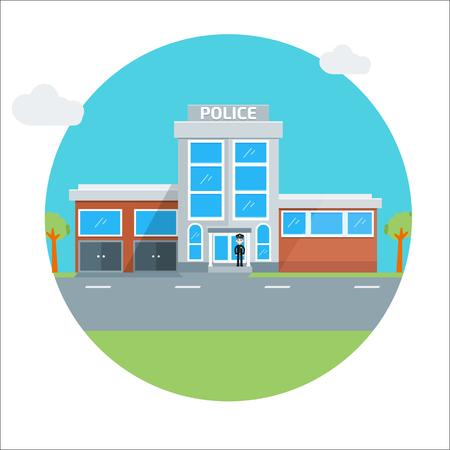 prison guard: police station icon