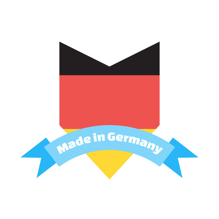 made to order: Made in Germany label or badge. Illustration