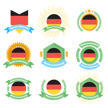 made to order: Made in Germany labels and badges.