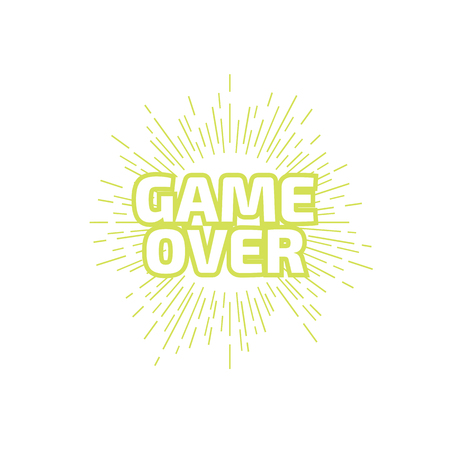 GAME OVER banner. GAME OVER lettering