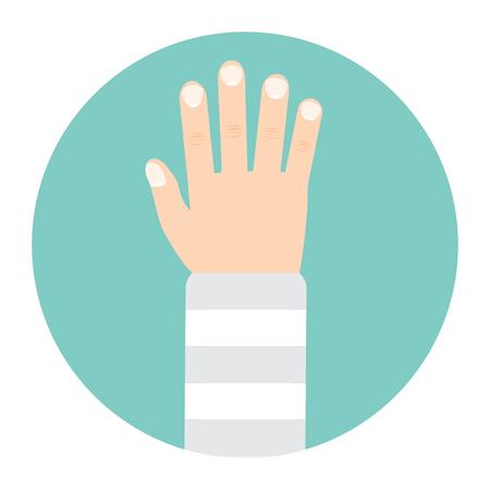 broken arm: broken arm icon Illustration
