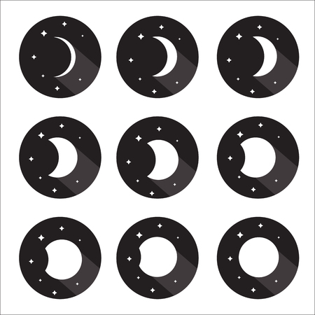 phase: Moon phases icon set