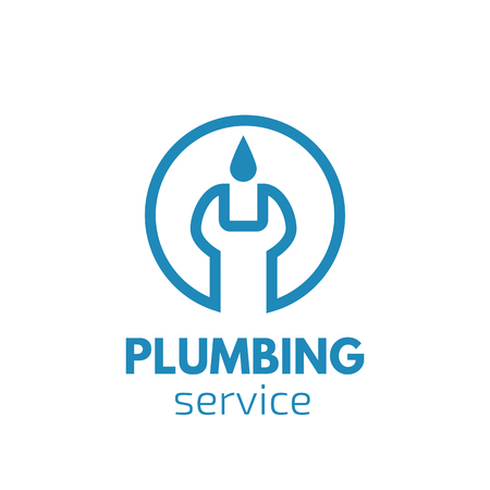 Plumber logo. Handyman logo Illustration