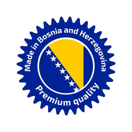bosnian: Made in Bosnia and Herzegovina logo Illustration