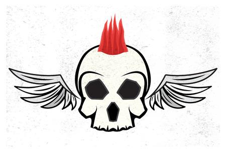mohawk: mohawk skull hairstyle