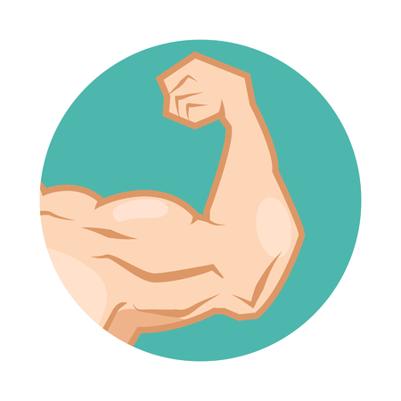 lift hands: muscular arm Illustration