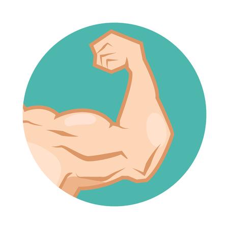 arm: muscular arm Illustration